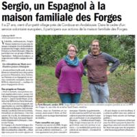 Sergio un espagnol à la MFR des Forges