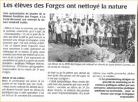 Les élèves des Forges ont néttoyé la nature